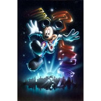 Mickey Mouse ''The 21st Century Begins'' Giclée by Noah