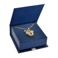 Mickey Mouse Golden Lock Necklace - Disney Designer Jewelry Collection