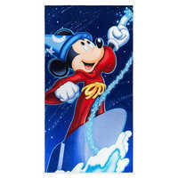 Image of Sorcerer Mickey Mouse Beach Towel # 1