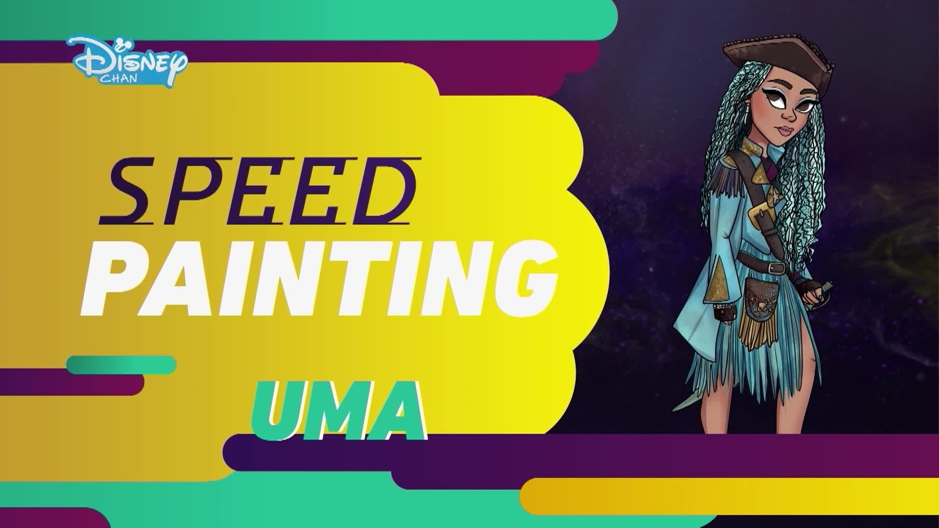 Os Descendentes 2: Speed Painting - Uma
