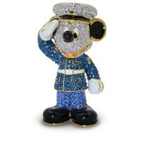 Marine Mickey Mouse Figurine by Arribas - Jeweled