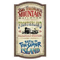 Image of Frontierland Attractions Wall Sign - Walt Disney World # 1