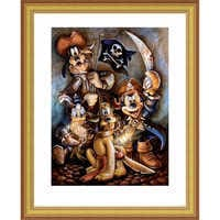 Image of Mickey Mouse and Friends ''Motley Crew'' Giclée by Darren Wilson # 4