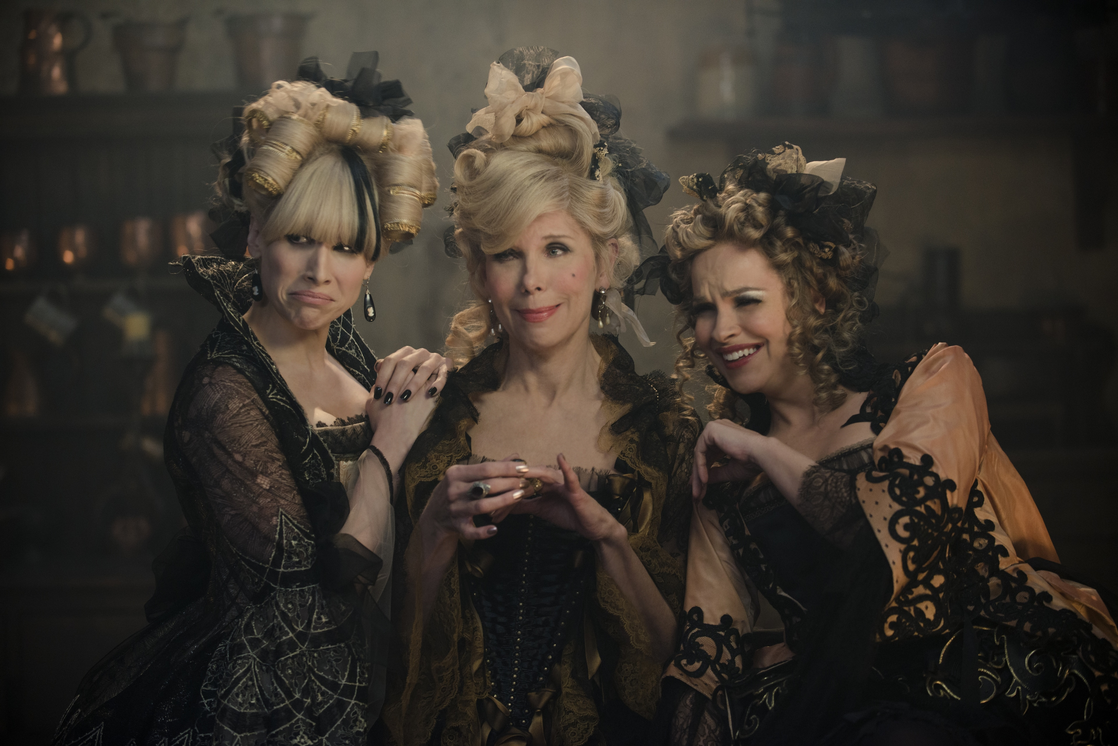 """Lucy Punch, Christine Baranski and Tammy Blanchard bring Cinderella's evil stepsisters and stepmother to life in """"Into the Woods"""""""