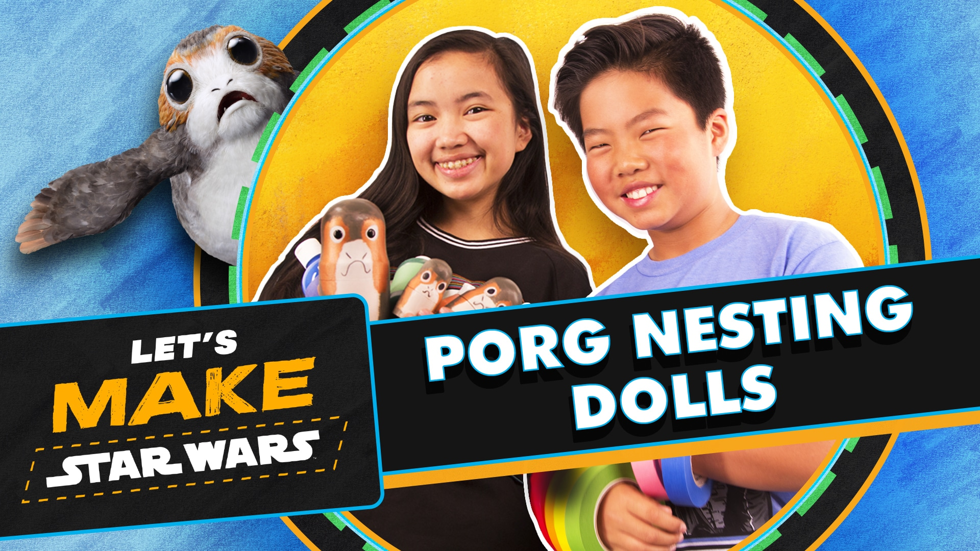Craft Porg Nesting Dolls DIY Tutorial | Let's Make Star Wars