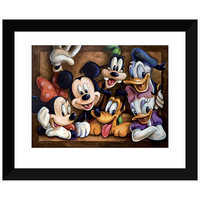 Image of Mickey Mouse ''The Gang'' Giclée by Darren Wilson # 2