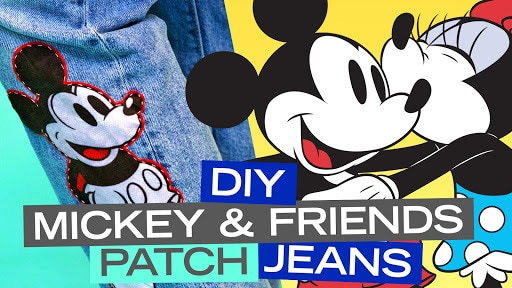 DIY Mickey & Friends Patch Jeans | Disney Style