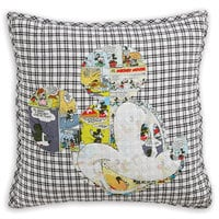 Mickey Mouse Comic Collage Pillow by Ethan Allen