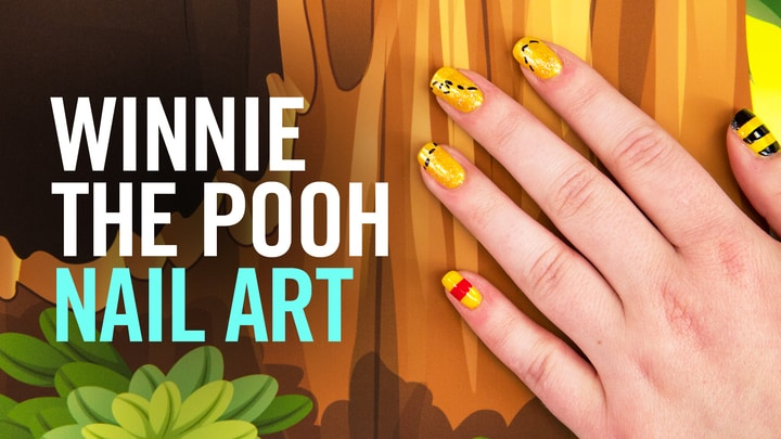 Winnie the Pooh-inspired Nail Art