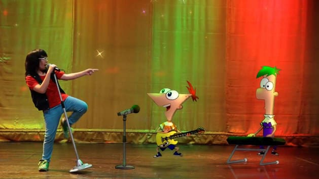 Backyard Heroes with Phineas and Ferbs - Sensen singing Rock and Roll