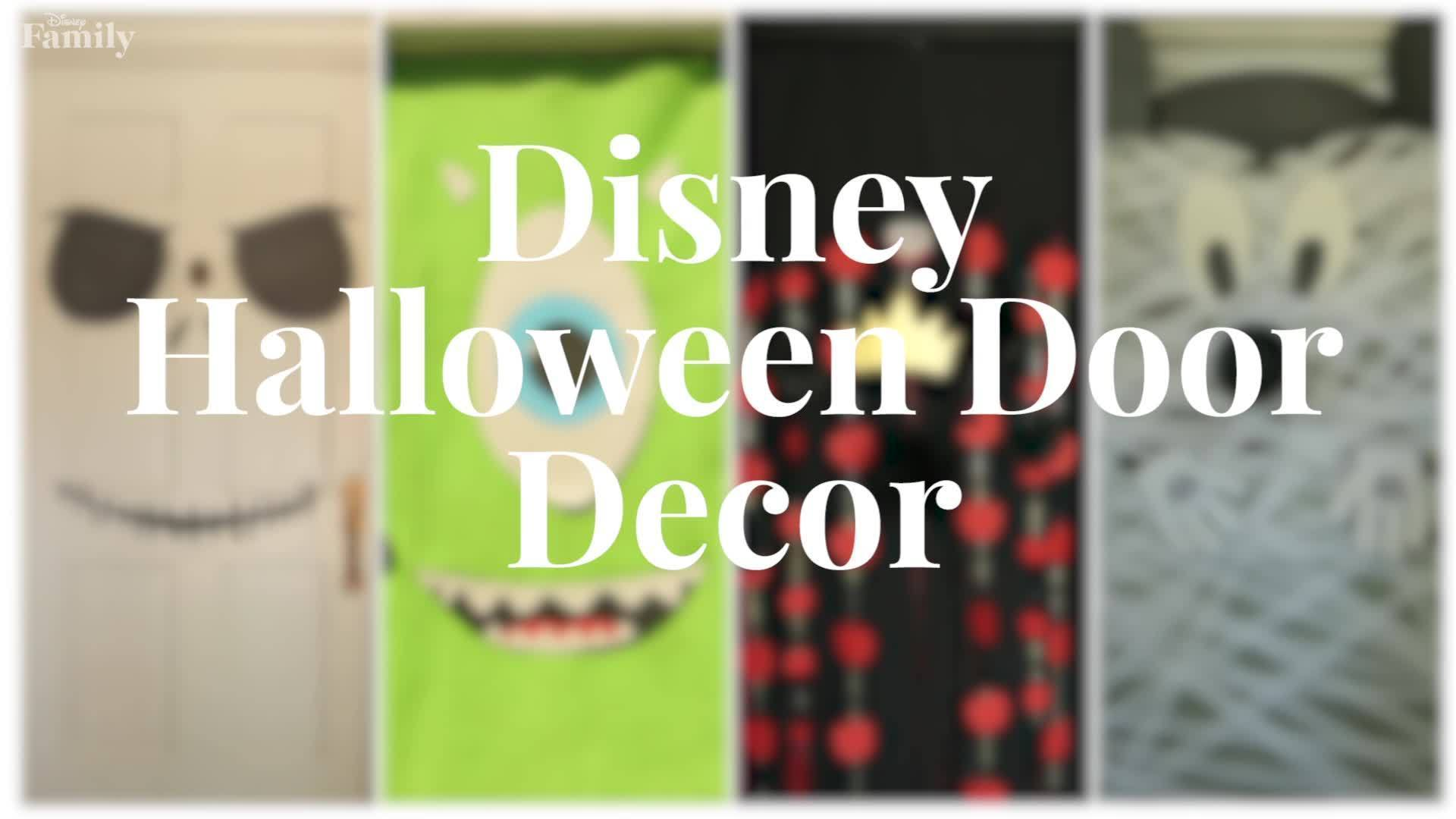 Disney Halloween Door Decor Four Ways | Disney Family