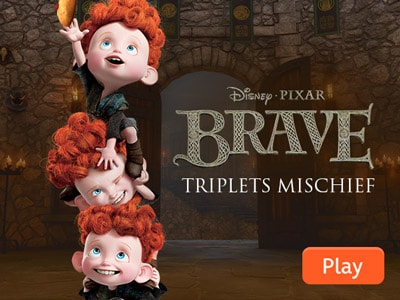 Brave Triplets Mischief Disney India Games