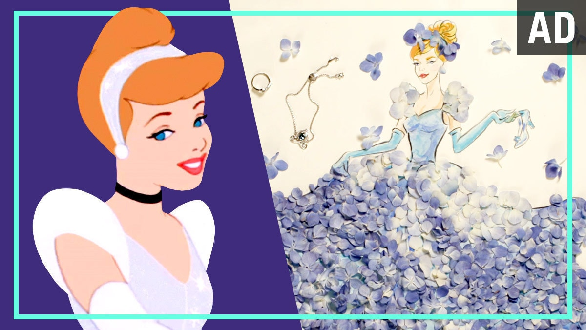 Cinderella Flower Fashion Illustration | Disney Style