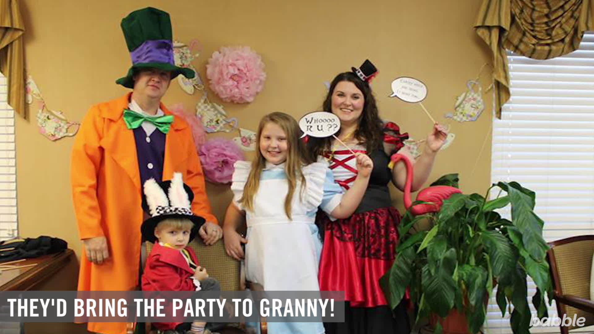 10-Year-Old Moves 'Alice in Wonderland' Birthday to Grandma's Nursing Home