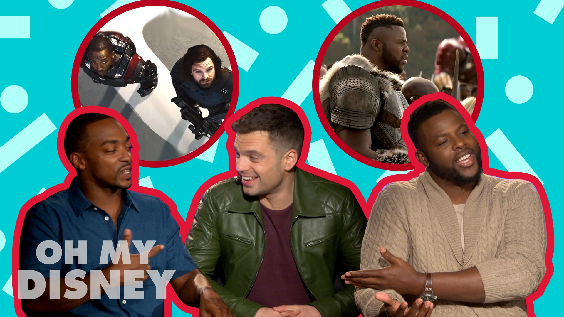 Winston Duke, Anthony Mackie, and Sebastian Stan Tell All | Oh My Disney Show by Oh My Disney