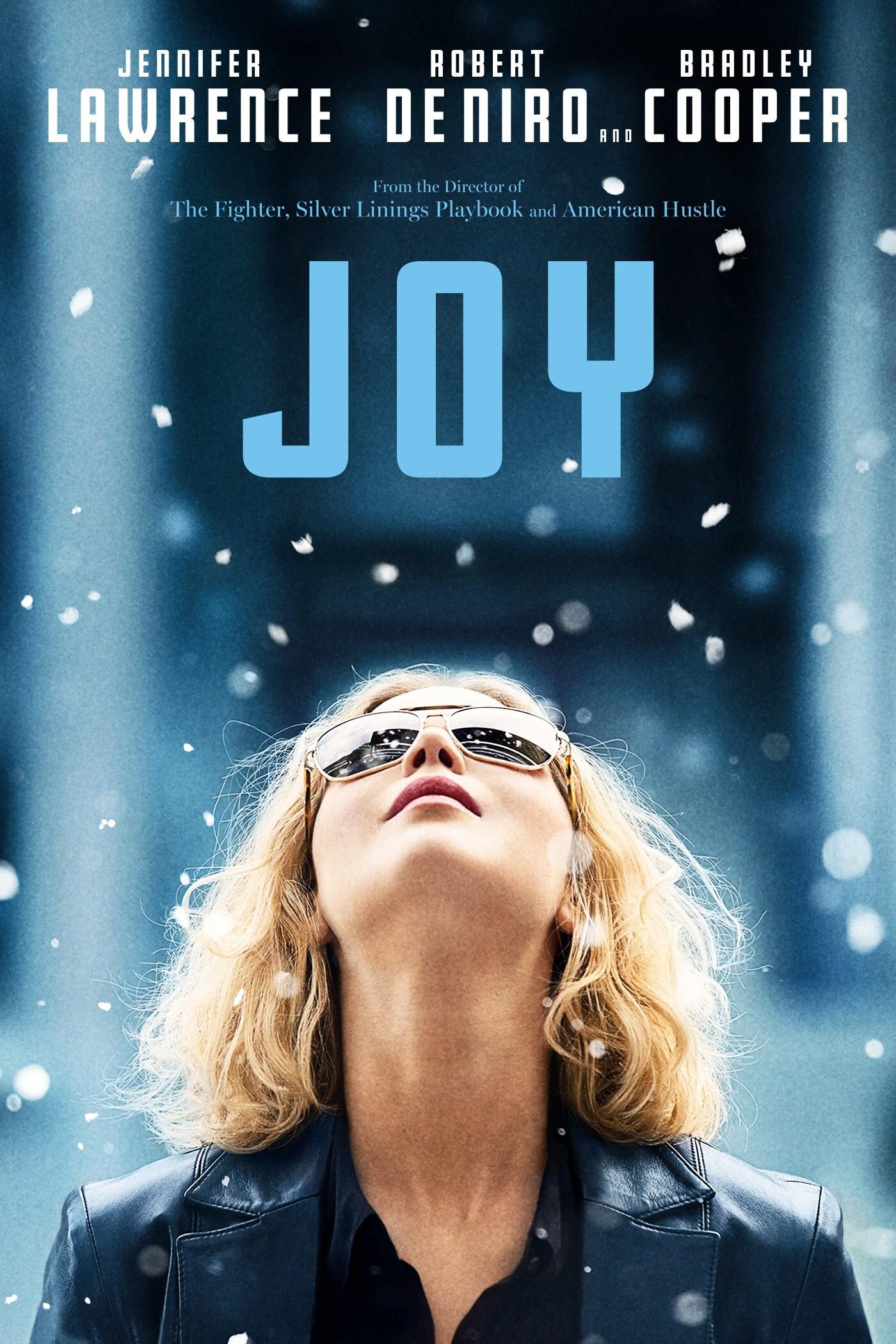 Joy starring Jennifer Laurence, Robert De Niro and Bradley Cooper movie poster