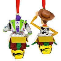Image of Woody and Buzz Lightyear Figural Ornament Set # 2