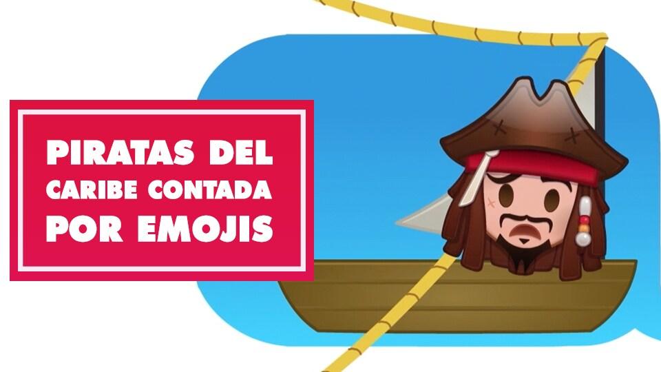 Piratas del Caribe contada por emojis - Oh My Disney