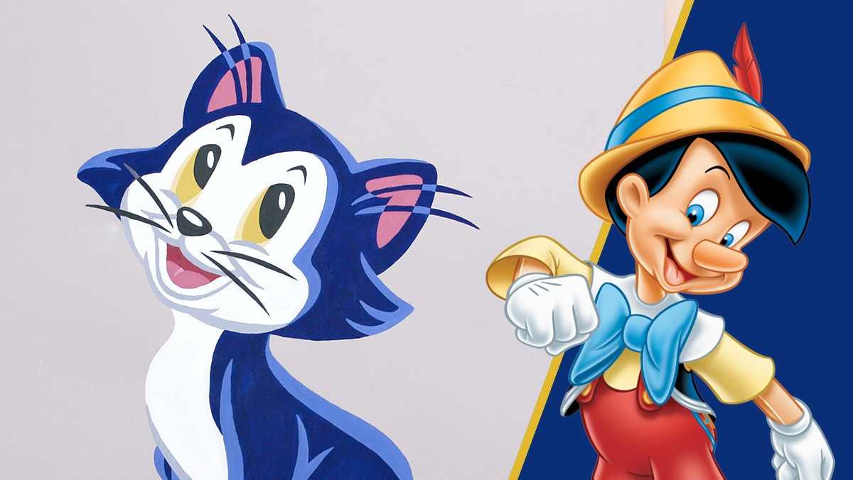 Gouache Portrait of Figaro from Pinocchio | Disney DIY by Disney Family