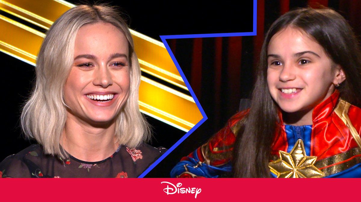 Little Girl Interviews Brie Larson About Captain Marvel | Disney