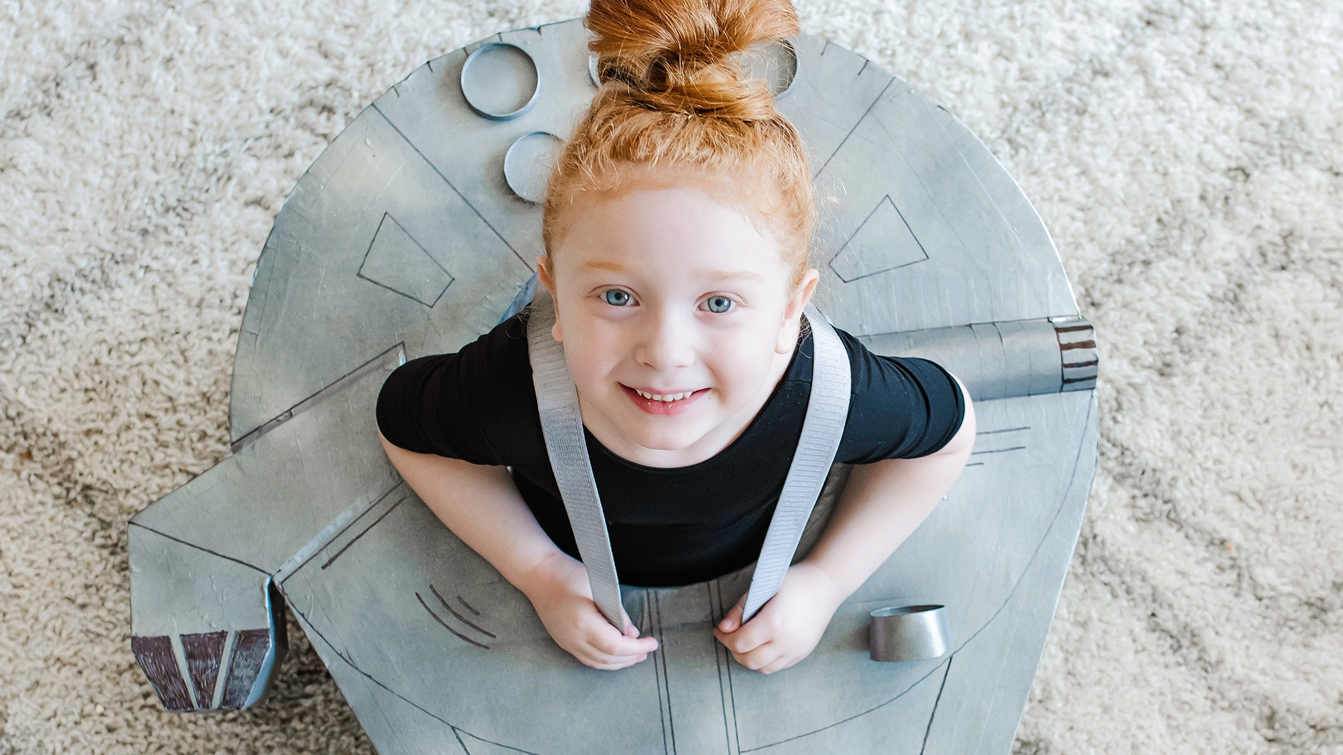 Cardboard Box Millennium Falcon | Disney DIY by Disney Family