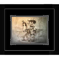 Image of Mickey Mouse ''There's a New Sheriff in Town'' Framed Deluxe Print by Noah # 1
