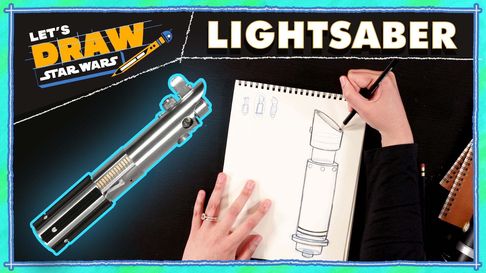 Death Star & Lightsaber Tutorial | Let's Draw Star Wars