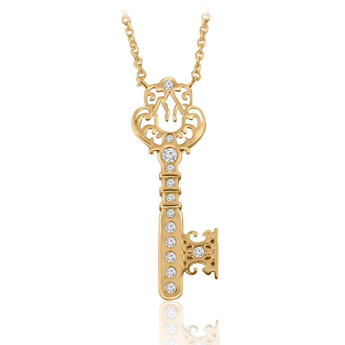 Castle Key Necklace - Disney Designer Jewelry Collection - Gold ...