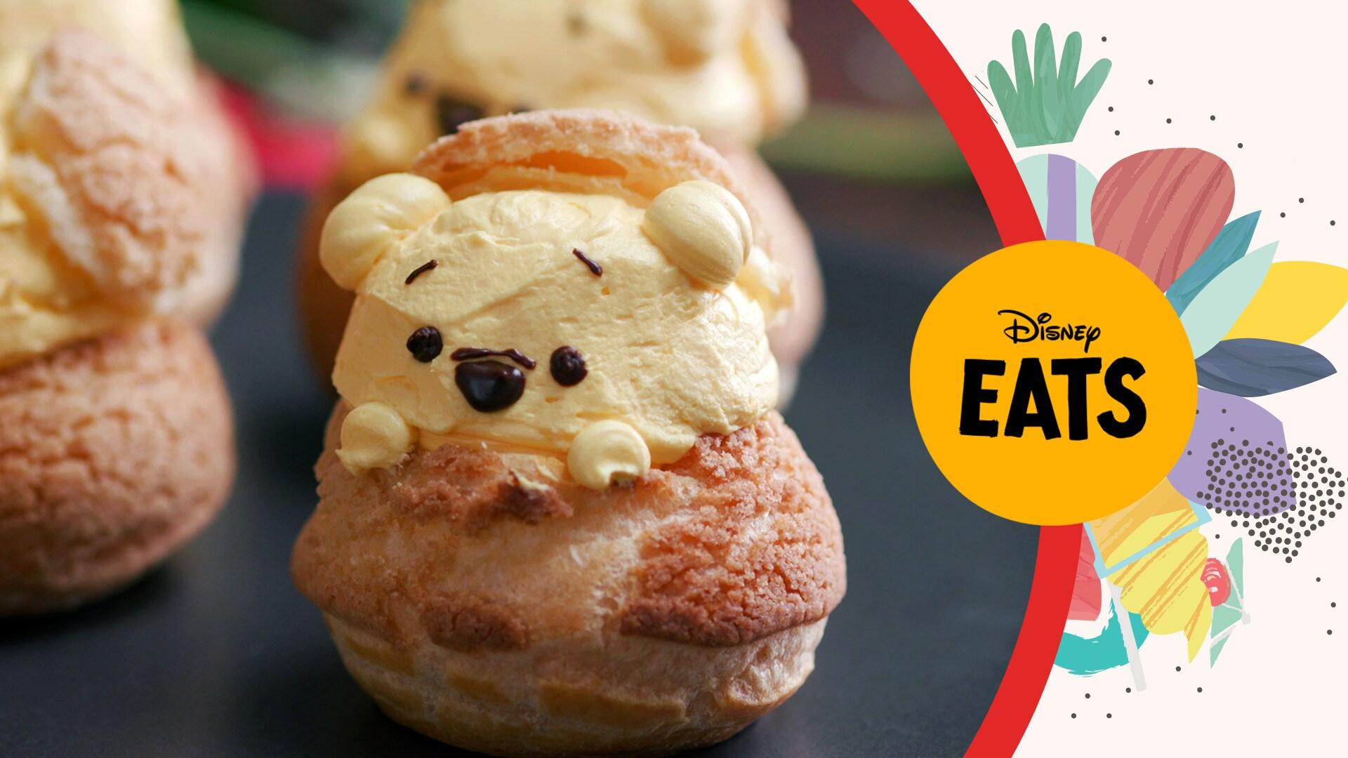 Winnie the Pooh Cream Puffs | Disney Eats x Tastemade