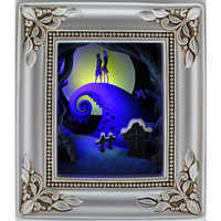Image of Tim Burton's The Nightmare Before Christmas ''Jack and Sally Embrace'' Gallery of Light by Olszewski # 1