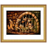 Image of Mickey Mouse Pirates of the Caribbean ''Here Poochie'' Giclée by Darren Wilson # 4