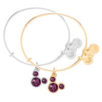 Mickey Mouse Birthstone Bangle by Alex and Ani - February