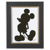 Mickey Mouse Silhouette III Framed Giclée on Archival Paper by Ethan Allen