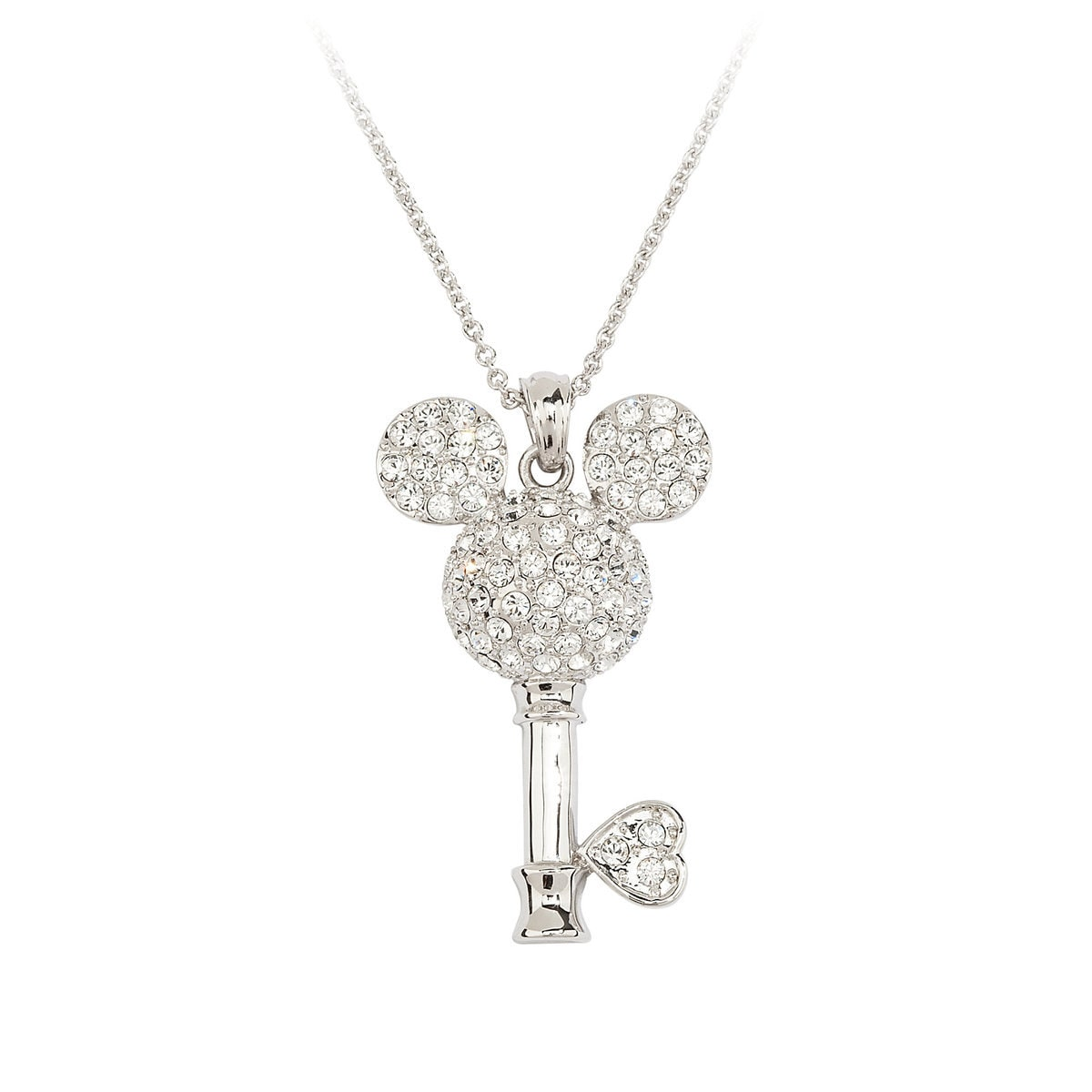 Mickey Mouse Crystal-Studded Key Necklace by Arribas | shopDisney