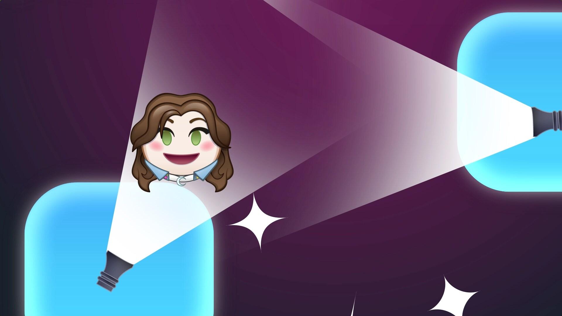 Sou Luna contada por emojis