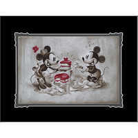 Image of Mickey and Minnie Mouse ''The Way to His Heart'' Deluxe Print by Noah # 1