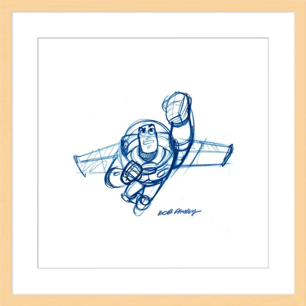 Buzz Lightyear \'\'Buzz\'\' Framed Giclée on Paper by Bob Pauley ...