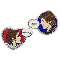 Image of Han Solo and Princess Leia Pin Set - Star Wars # 1
