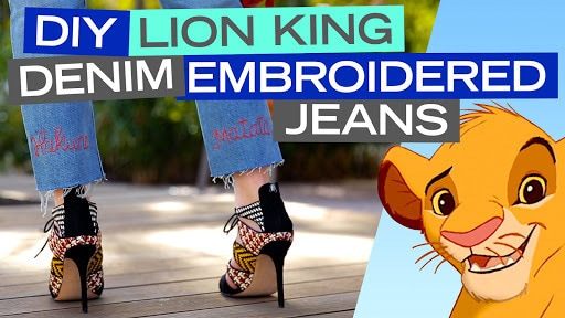 DIY The Lion King Embroidered Jeans | Disney Style
