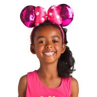Image of Minnie Mouse Ears Headband for Girls - Pink Sequin # 2