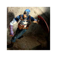 Image of Captain America Action Figure - Marvel Select - 7'' # 3