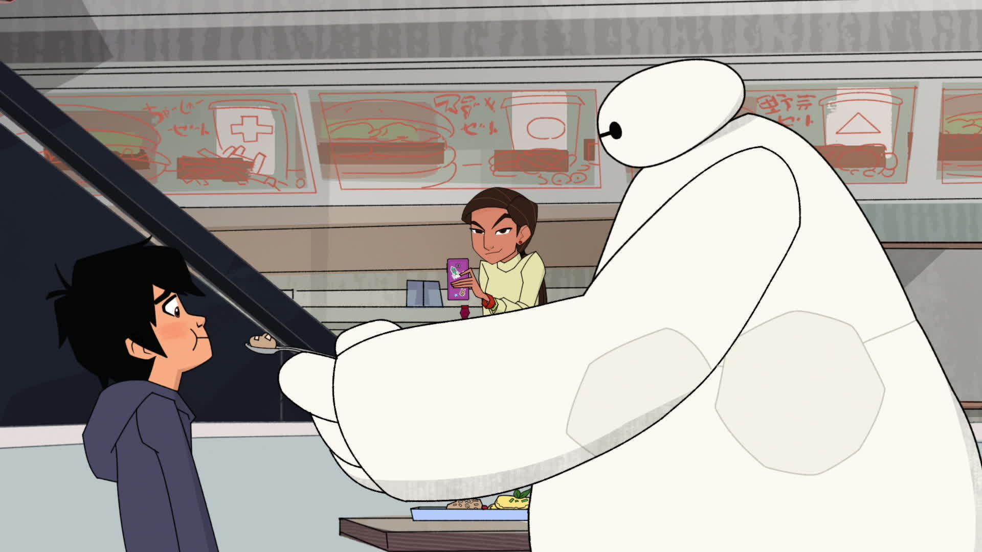 Baymax and Hiro