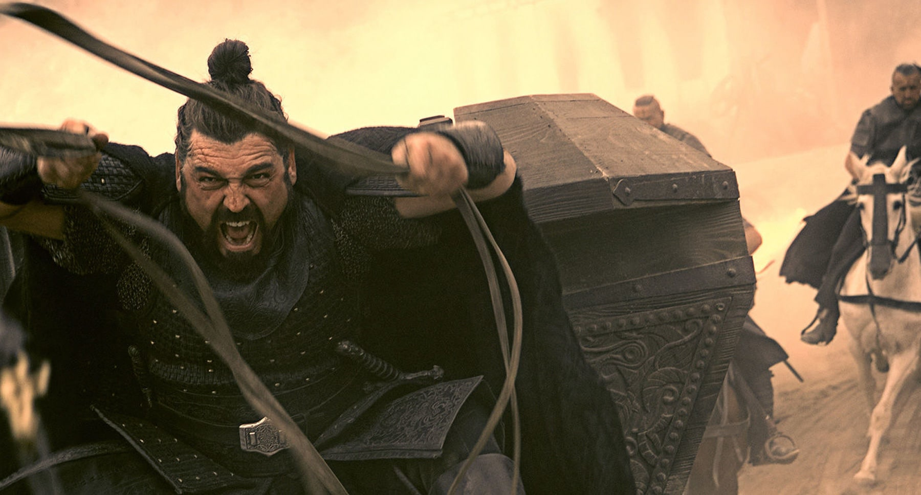 "Hovik Keuchkerian (as Ojeda) charging forward in the movie ""Assassin's Creed"""