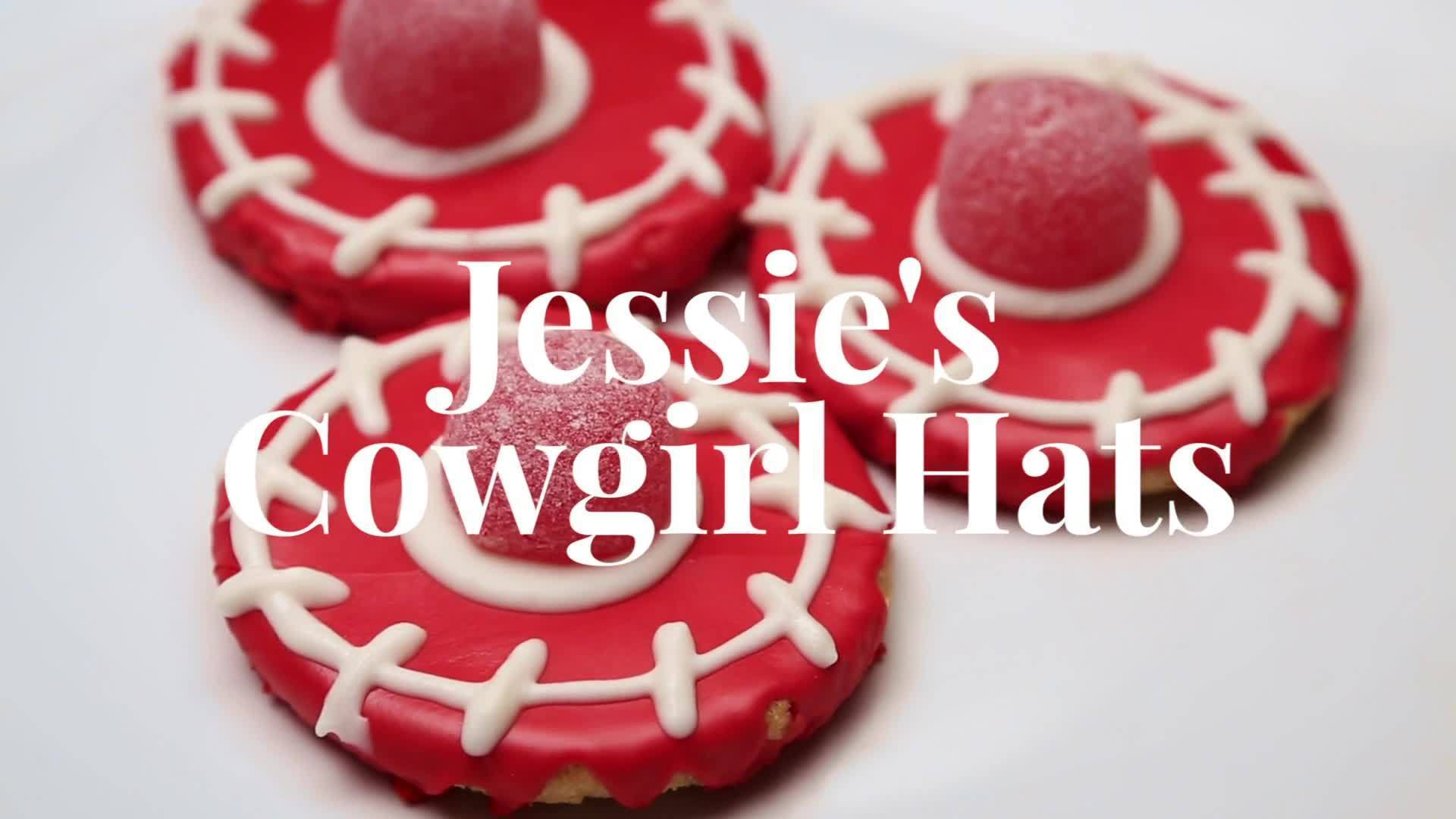 Jessie's Cowgirl Hat Cookies | Dishes by Disney
