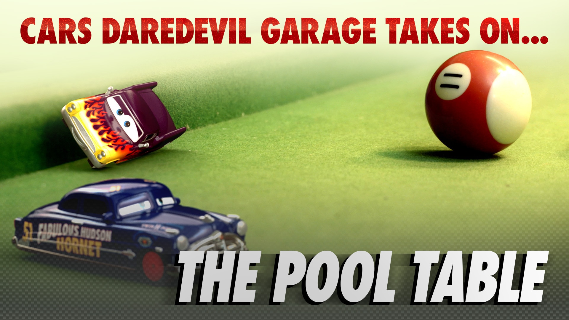 Cars Daredevil Garage: Pool Hall Racers - The Pool Table