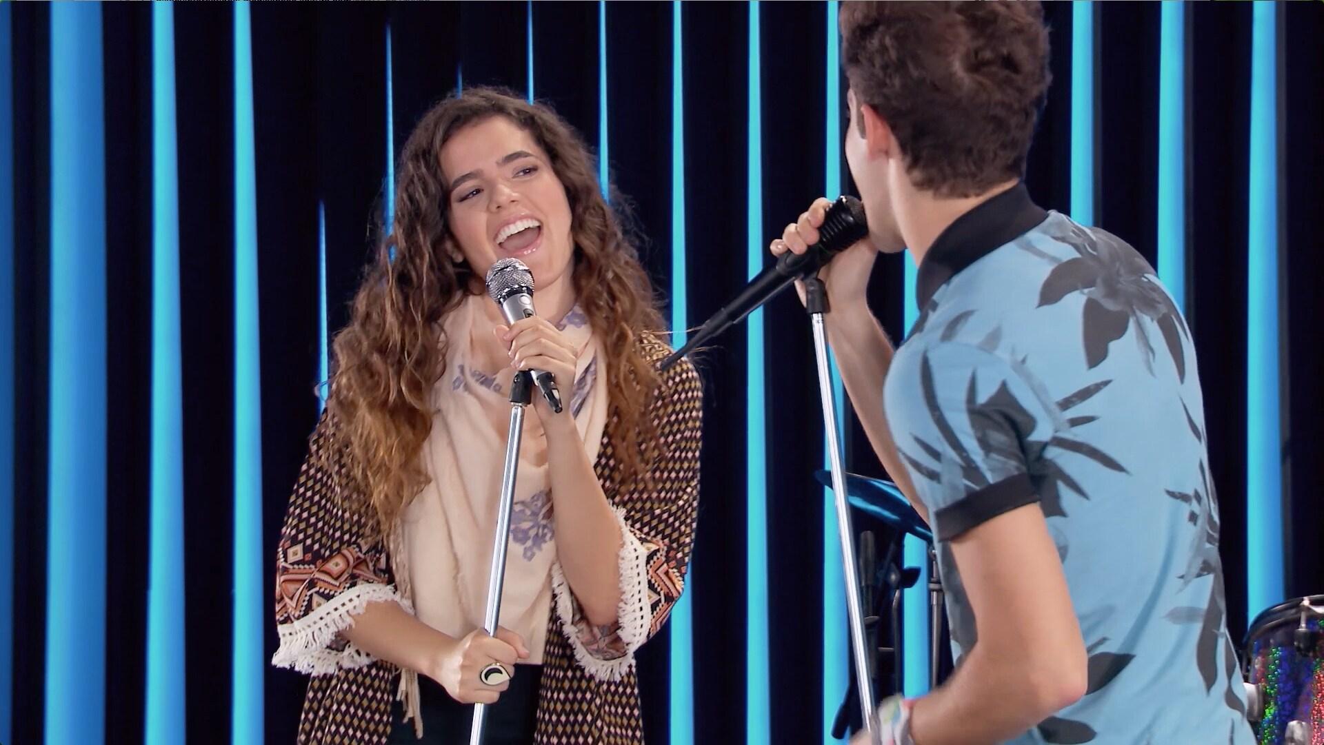 Camila Fernández en el set de Soy Luna - Participación especial