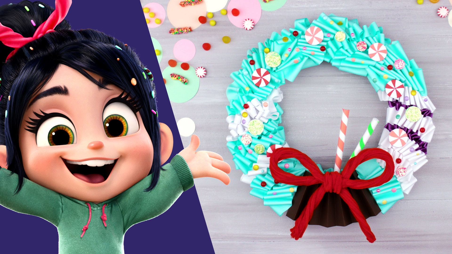 Vanellope Wreath | Disney DIY by Disney Family