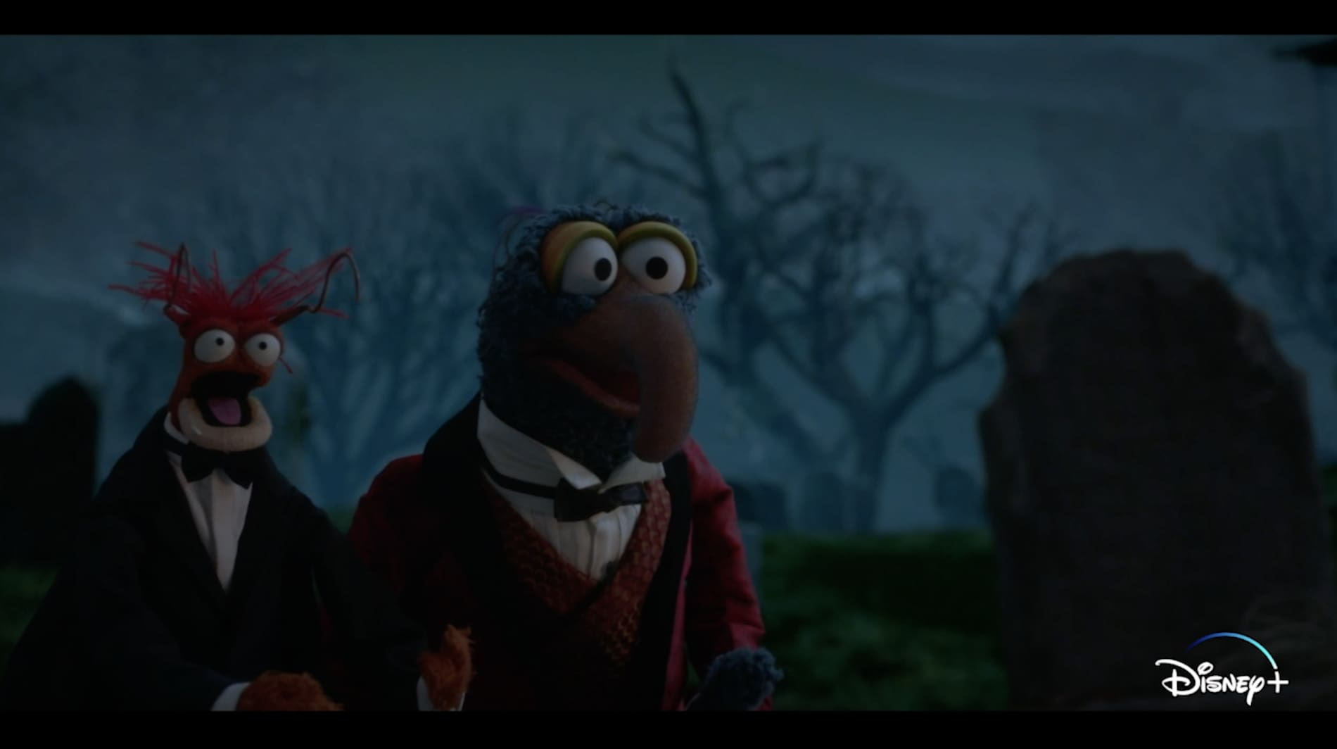 Official Clip - Gonzo & Pepe Have Arrived   Muppets Haunted Mansion   Disney+