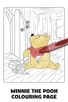 Pooh Colouring Page