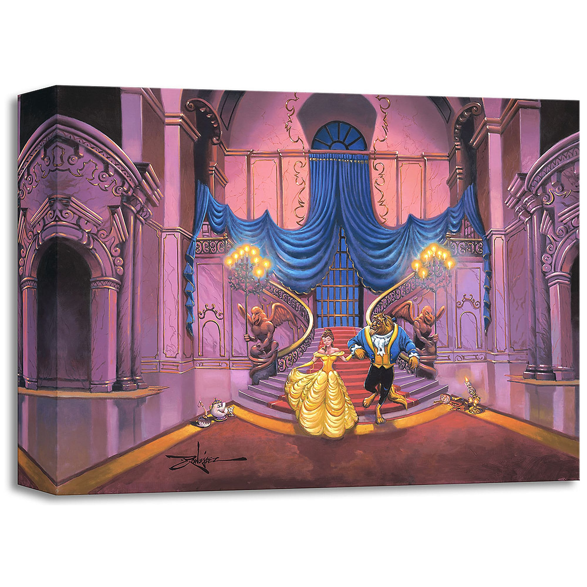 Beauty and the Beast ''Tale as Old as Time'' Giclée by Rodel Gonzalez